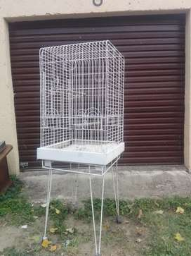 Parrot cage on stand