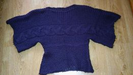 Sweterek narzutka nietoperz gruby na zime