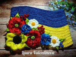 Флаг Украины. Ручная работа. Национальная символика.
