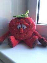 Игрушка мягкая клубника фрукта ягода красная 17 см