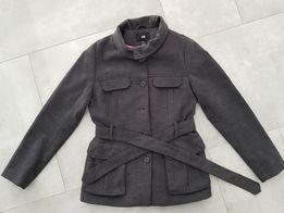 Płaszcz H&M rozmiar 40/42 kolor ciemny szary