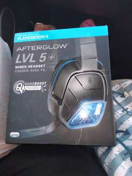 PS4 Afterglow LVL 5 wired headphones
