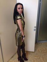 Яркое золотое платье!