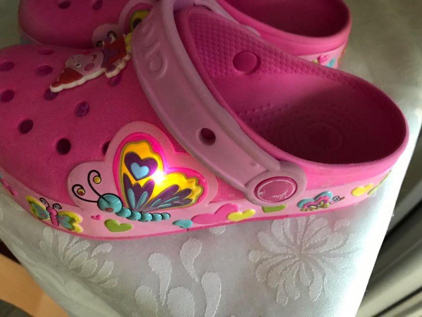 Crocs roze  C12 svijetleće 0