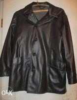 Продается куртка кожаная черная мужская