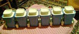 Набор емкостей для хранения специй и сыпучих продуктов 6 предметов