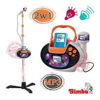 БЕСПЛ.ДОСТАВКА Музыкальный детский Микрофон со Штативом Simba