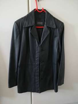 Woolworth ladies leather jacket 8