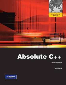 Absolute  C++ Fourth Edition