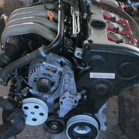 Audi A4 2.0 Alt engine with wiring and computer box