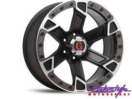 20 inch  Lenso Intimid 6-139 Alloy Wheels bakkie application - 6 139 p