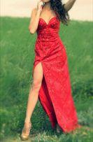 Шикарное эксклюзивное вечернее выпускное красное платье