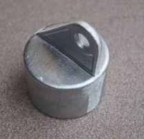Nasadka podporowa aluminiowa ocynk fi60 podpora słupek obejma