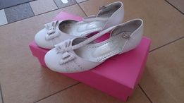 Buty białe komunia święta dziewczęce rozm 34 stan bdb