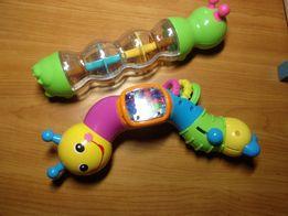 Погремушки. Развивающие игрушки. Гусеница-погремушка