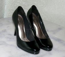 Туфли лаковые черные на каблуке Marks & Spencer Insolia 36 размер