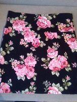 Spódnica w kwiaty róże rozm M