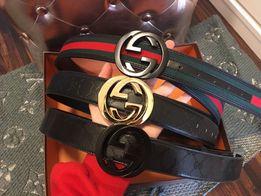Pasek Gucci unisex damski męski lv louis Hermes czarny złota