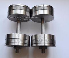 Разборные (наборные) гантели 2 по 24 кг. D под блины 25 мм. Купить.