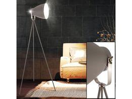 Rustykalna szara lampa stojąca EVA LOFT Leuchten Direkt E27 trójnóg