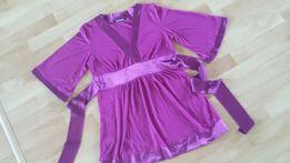 Ciążowa tunika bluzka sukienka L / XL lato okazje delikatna