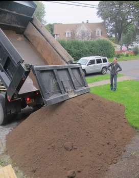 Lawn dressing and black compost