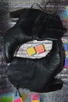Стелька 24,8 см Сапоги ботинки женские кожаные демисезонные черные