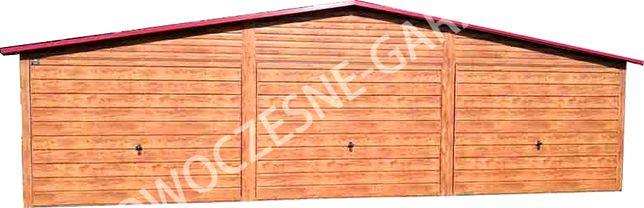 Garaż blaszany drewnopodobny imitacja drewna nowość Wrocław - image 1