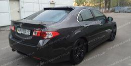 Лип спойлер Honda Accord 8 козырек на стекло Хонда Аккорд бленда