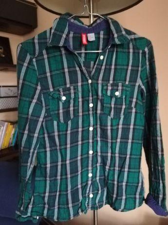 Koszula w kratę H&M rozmiar 34 zielona Ruda Śląska - image 2