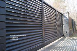 Заборні жалюзі огорожа забор паркан штахети луцьк металопрофіль
