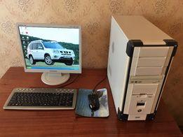 Компьютер настольный, стационарный + монитор Samsung 710N