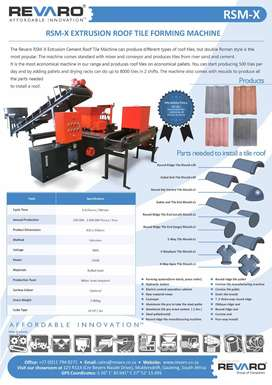 Revaro Roof tile machines are affordable