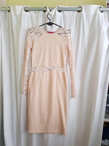 Sukienka ecru midi ,koronka Boohoo Oświęcim - image 1