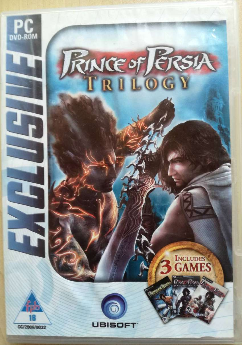 PC DVD ROM GAME PRINCE OF PERSIA TRILOGY 3 Disk Set 0