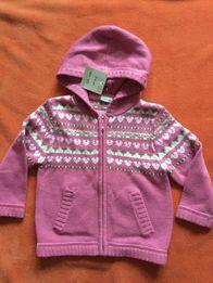 NOWY śliczny sweter z kapturem Cherokee roz. 104