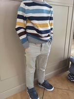 Spodnie chinos i tshirt KappAhl 98-104