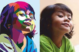 Портрет по фото в стиле WPAP, POP ART