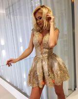 Just Unique Afrodyta Gold Sukienka M/L Komunia Wesele Chrzciny
