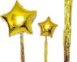 Звезда, хвост (фольгированные шары, шарики, декор, фотозона)