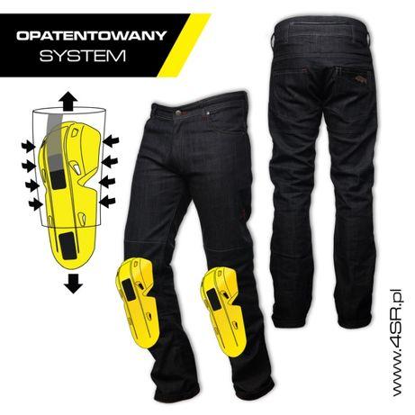Spodnie motocyklowe jeans 4SR COOL BLACK - Motorbiker Wrocław - image 3