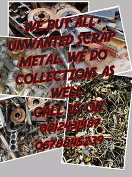 We buy unwanted scrap metal