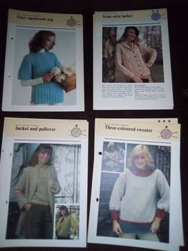 LADIES KNITTING PATTERNS LOT 5