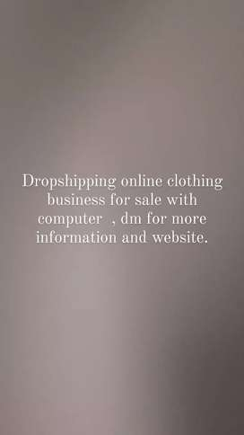 Online Clothing business with computer