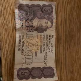 old south african 5 rand