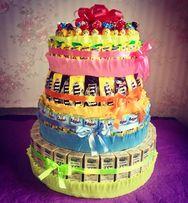 Торт из сладостей