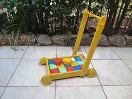 Awesome toddlers block trolley.