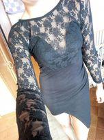 Sukienka mała czarna koronka