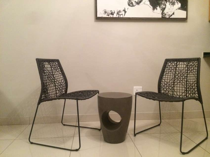 Lovely garden 3 piece set and light grey occasional chair 0