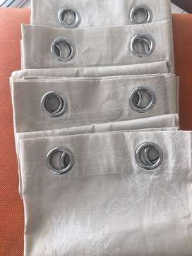Off White Eyelet Curtains